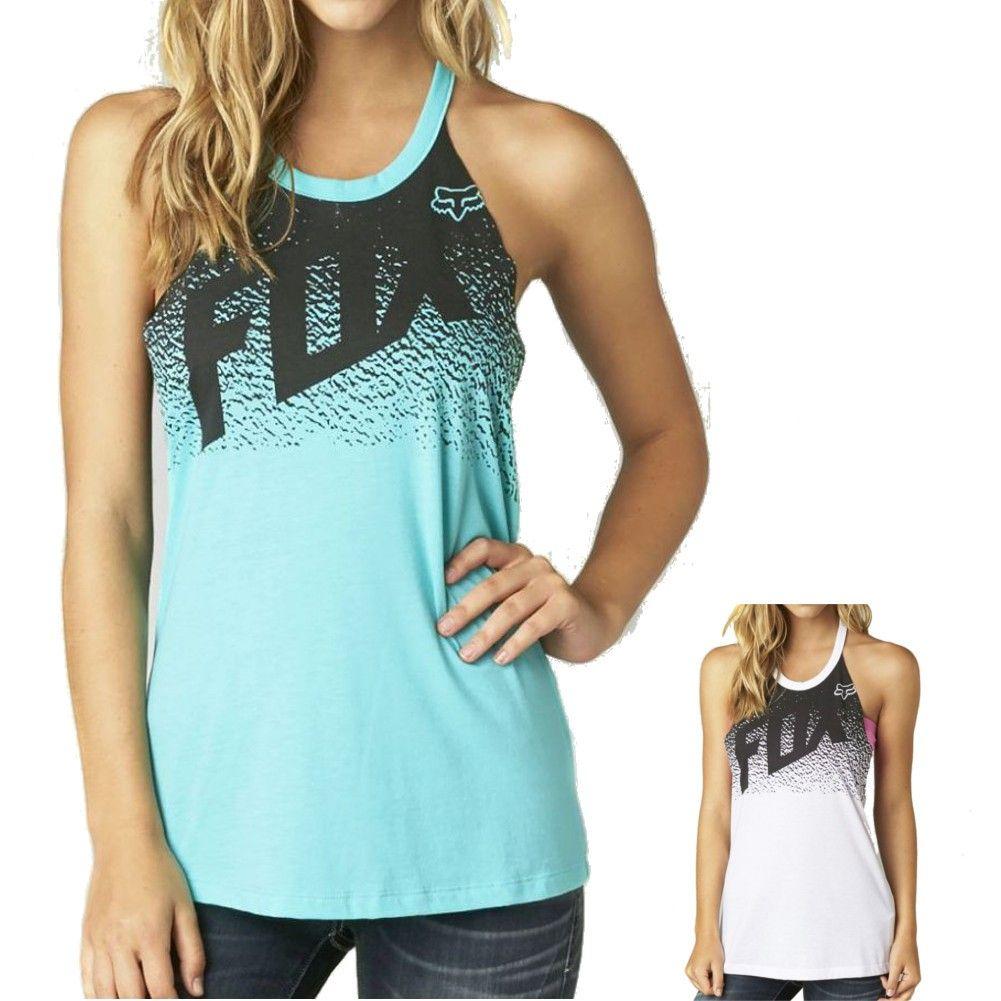 8e9832b8 2015 Fox Racing Womens Summer Sunshowers T Back Casual Sleeveless Tank Top