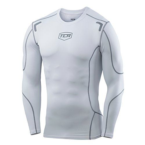 Mens Boys TCA Elite Compression Base Layer Top Thermal Under Shirt  Pro White L >>> More info could be found at the image url.(This is an Amazon affiliate link)