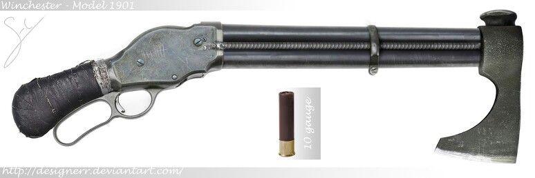 Winchester 1901 Shotgun-Axe by Designerr: The Model 1887 was