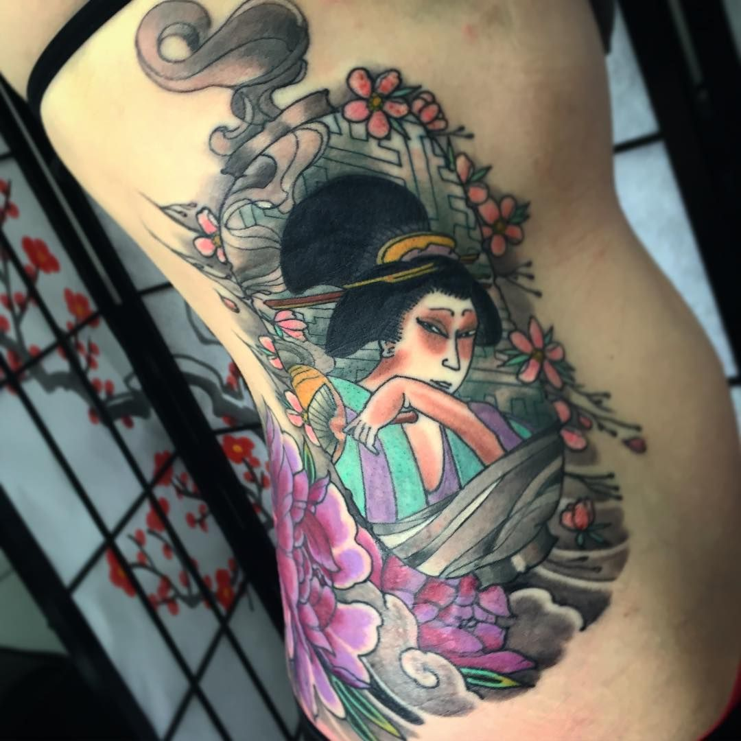 Geisha tattoo elegant geisha tattoo picture - 50 Colorful Japanese Geisha Tattoo Meaning And Designs Check More At Http Tattoo
