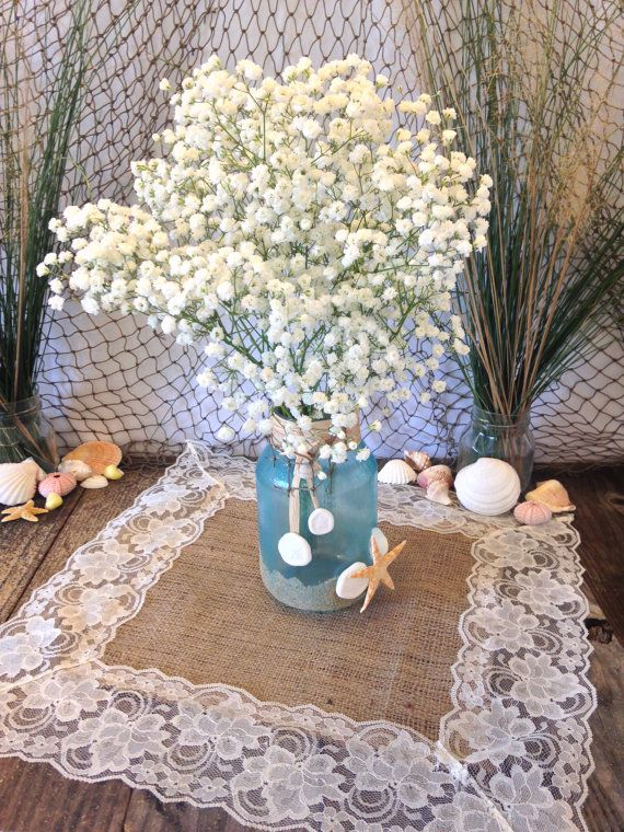 Burlap IVORY Lace-Edged Table Topper/ Table Overlay/Placemat/Table ...