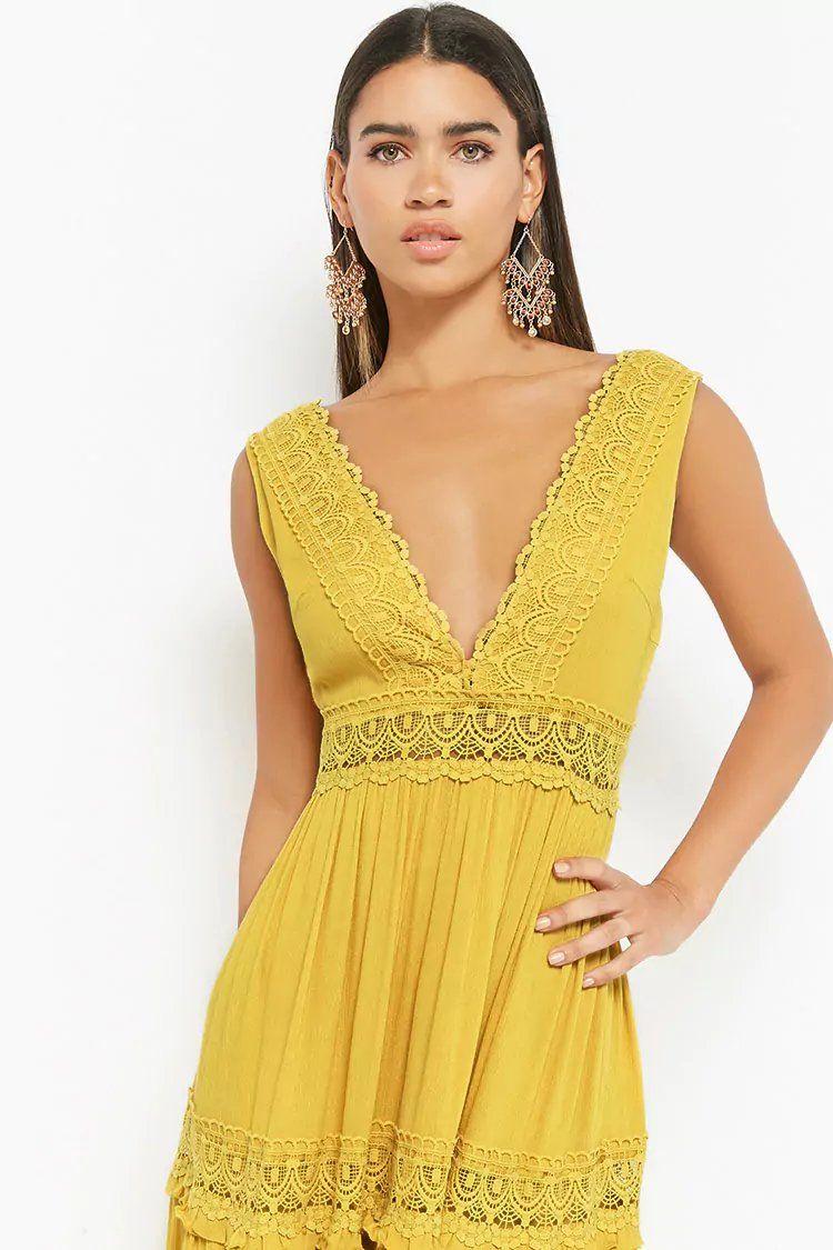 Crochet Trim Maxi Dress Forever21 Forever 21 Fashion Dresses Fashion