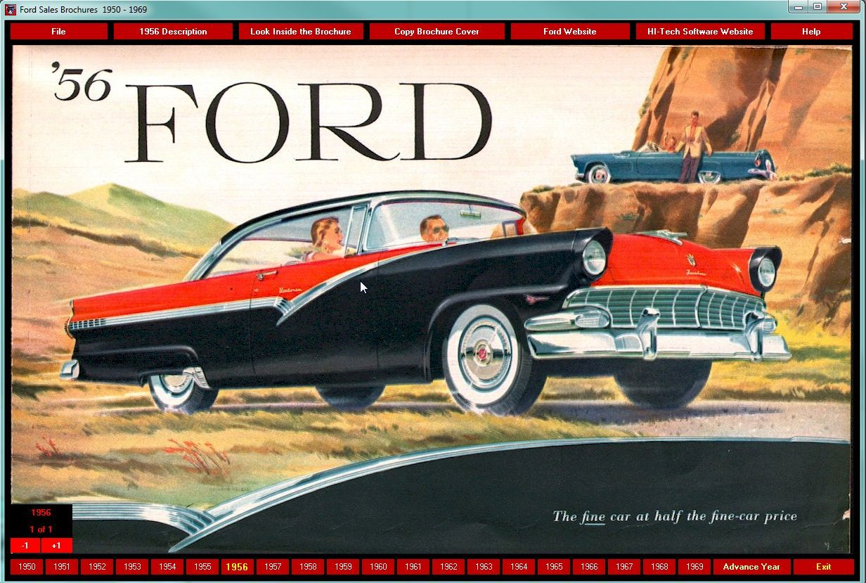 5 99 Ford Sales Brochures 1950 1969 Cd Rom Ebay Collectibles