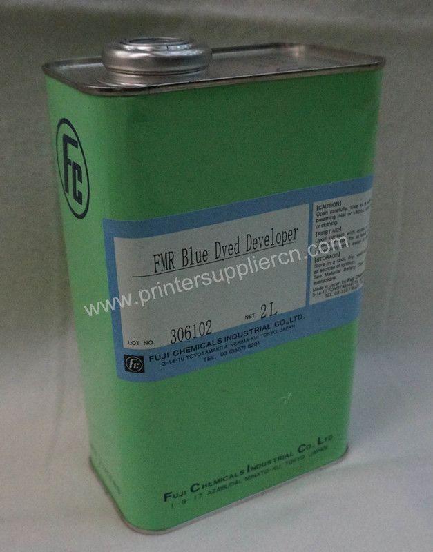 pad printer plate making chemical , FMR Bkue Dyed Developer   Pad