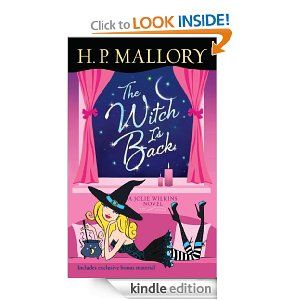 The Witch Is Back (with bonus short story Be Witched): A Jolie Wilkins Novel by H. P. Mallory.  Cover image from amazon.com.  Click the cover image to check out or request the romance kindle.