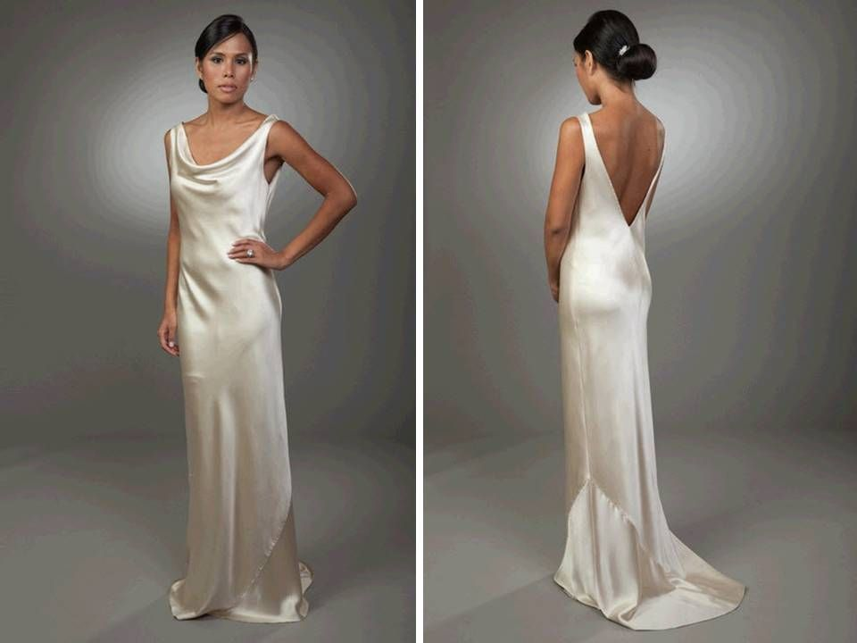 Modern Wedding Dresses Silk