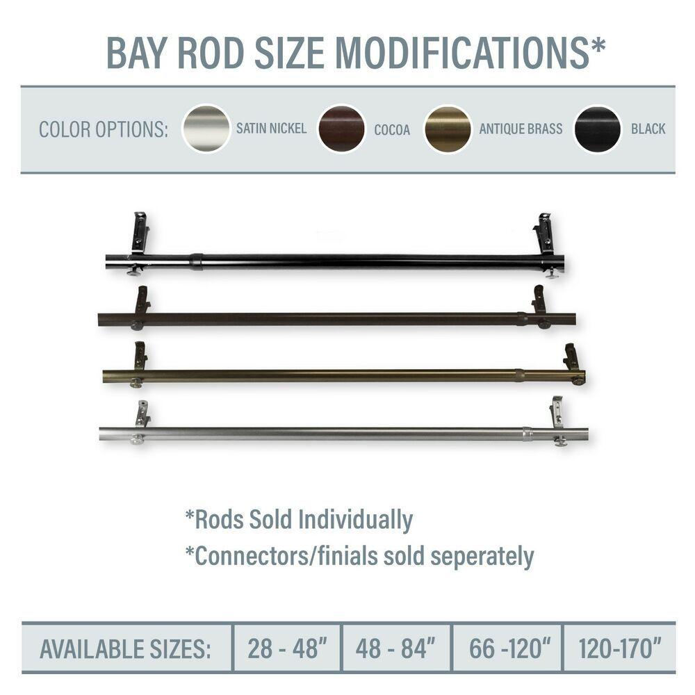 Bay Window Corner Window Single Curtain Rod Choose From 4 Sizes