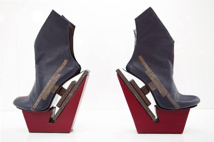 """Design Trendsetter 2015"" contest: Carolin Holzhuber sculpture shoes, F/W 2015/2016 collection #carolinholzhuber"
