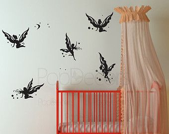 Fairies Decals Butterfly Wall Decal Girl Baby Room Decor Nursery Wall Decal- Butterfly Fairies -Designed by Pop Decors