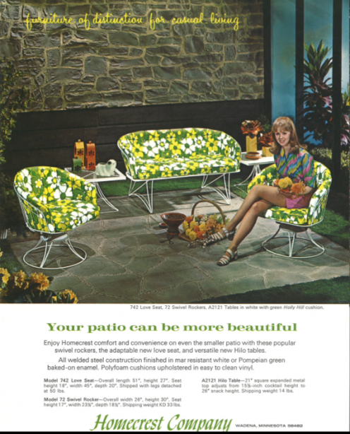 We Love This Vintage Patio Set, Which Features Some U201cgroovyu201d Holly Hill  Cushions.