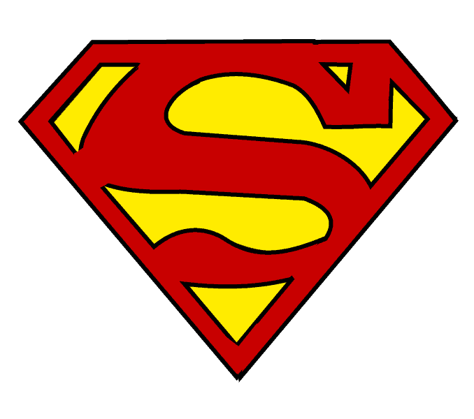 How To Draw Superman Logo Easy Step By Step Drawing Guides Superman Logo Superman Clipart Superman