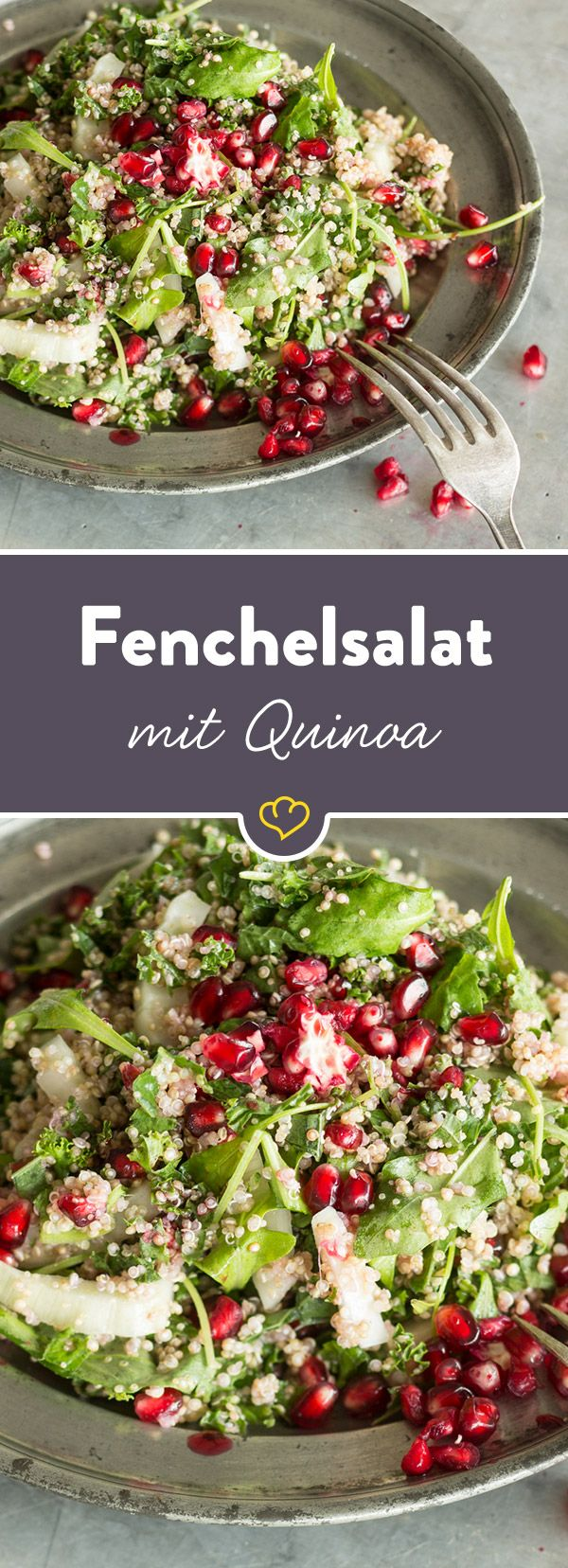 Photo of Fennel salad with quinoa and pomegranate seeds