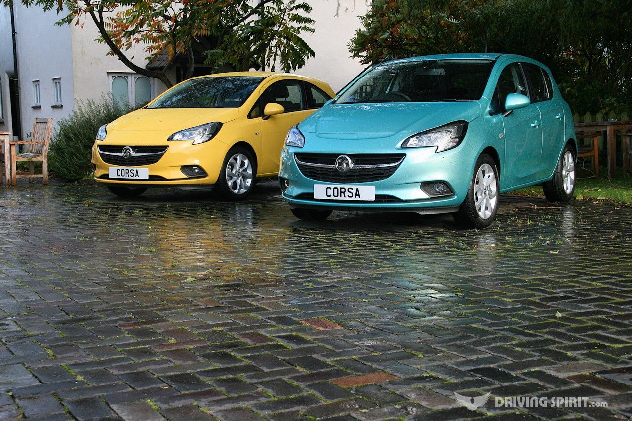2015 Vauxhall Corsa Here Shown In Flaming Yellow And Peppermint