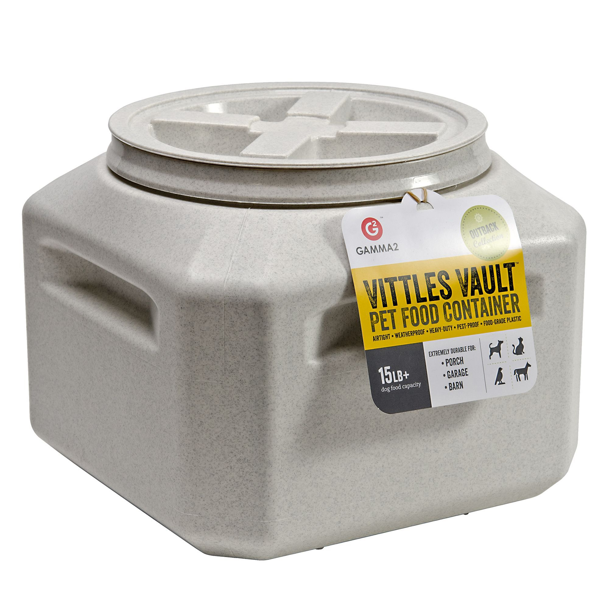 Vittles Vault By Gamma2 Outback Pet Food Container Size 15 Lb