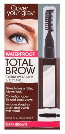Cover Your Gray Total Brow Eyebrow Sealer and Color Dark Brown 035 oz  Cover Your Gray Total Brow Eyebrow Sealer and Color Dark Brown 035 oz