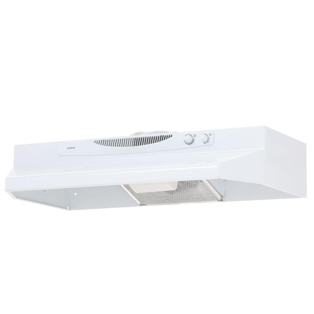 Broan Nutone Acs Series 30 In Convertible Under Cabinet Range Hood With Light In White Acs30ww The Home Depot Range Hood Broan Under Cabinet Range Hoods