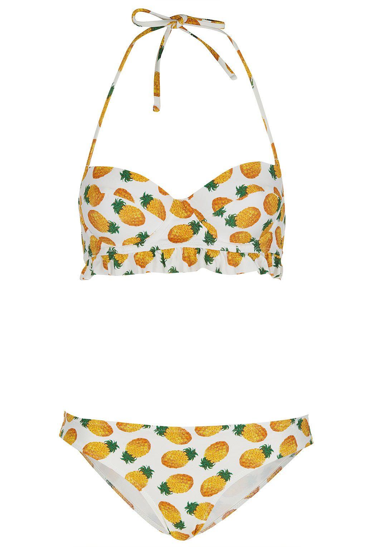 86ea6e4b1b White Pineapple Bikini - Swimwear - Clothing - Topshop Europe ...