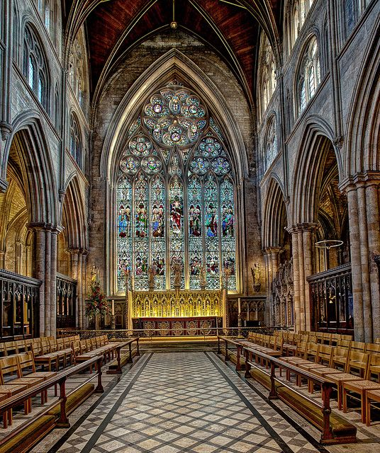Ripon Cathedral, England | Ripon Cathedral - a 12th century structure, most of the nave was substantially rebuilt in the 15th century Gothic style