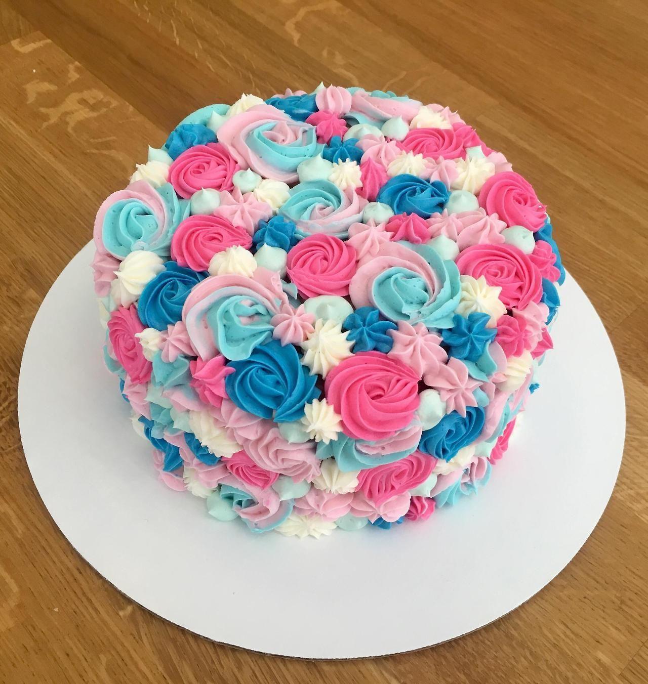 Gender Reveal Cake Chocolate Cake And Vanilla Buttercream Baby Reveal Cakes Gender Reveal Cupcakes Gender Reveal Cake