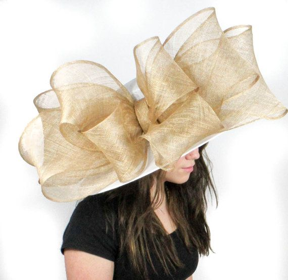 Hats By Cressida Womens Occasion Big Beautiful Sinamay Adjustable Bow Ascot Derby Wedding Hat