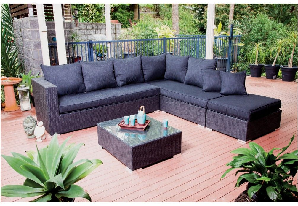 RAVEN 4pce Lounge Setting | Outdoor sectional sofa ...