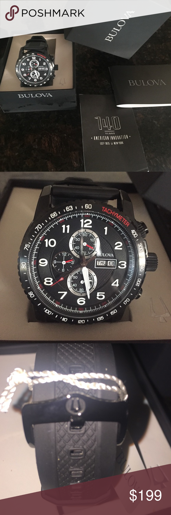 Bulova Men's Watch Only worn once. Comes with box & manual. Everything is fully functional. Bulova Accessories Watches