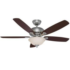 Hampton Bay Southwind 52 In Brushed Nickel Ceiling Fan 52379 At The Home Depot I Think This Was T Brushed Nickel Ceiling Fan Ceiling Fan Ceiling Fan With Light