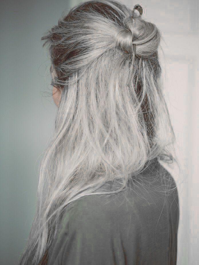 Half Up Half Down Messy Bun Hair Styles Sandy Blonde Hair Long Hair Styles