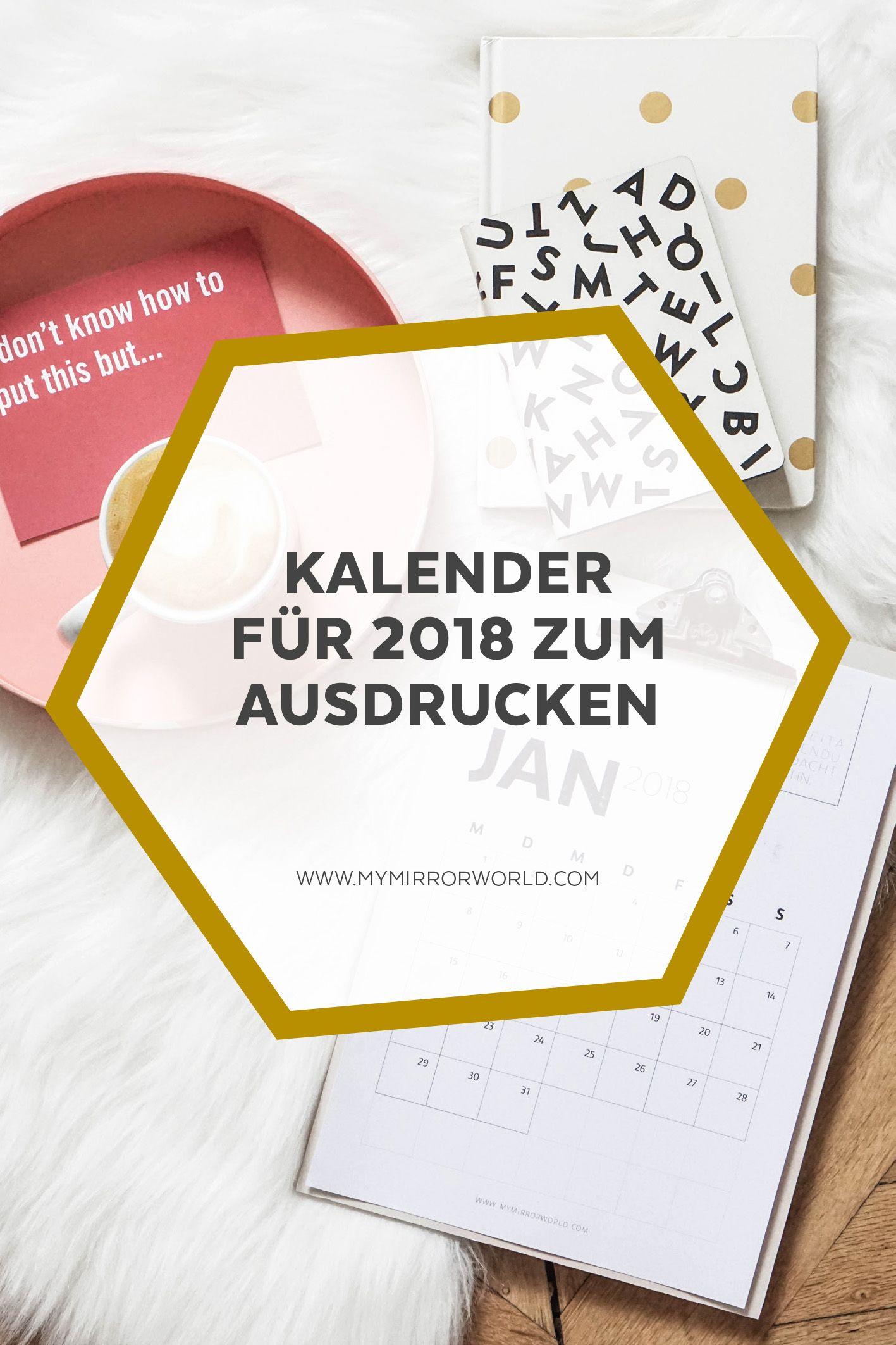 meine kalender 2018 zum ausdrucken für dich   die besten diys zum