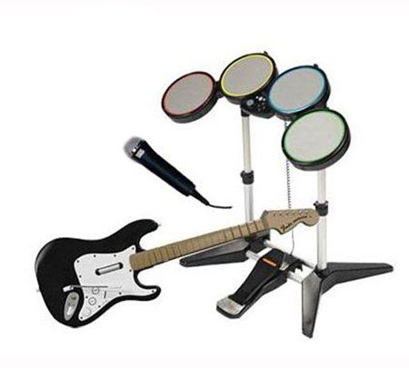 Wii Rock Band Bundle: Guitar, Drums & Microphone  http://www.cheapgamesshop.com/wii-rock-band-bundle-guitar-drums-microphone-2/