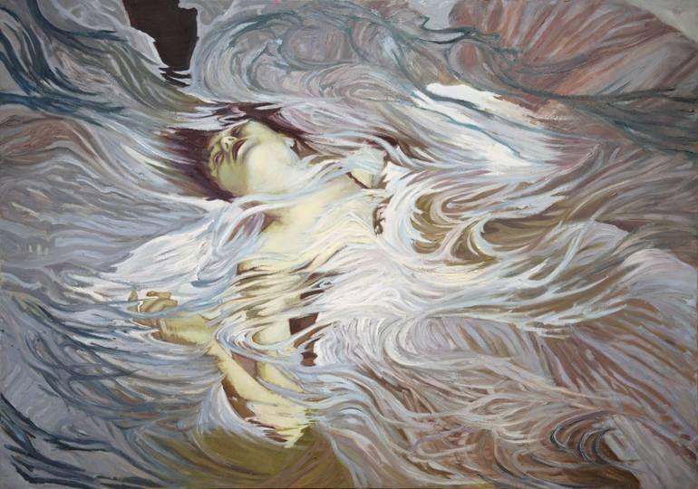 """Saatchi Art Artist Joanna Smielowska; Painting, """"White (Ophelia)"""" #art"""