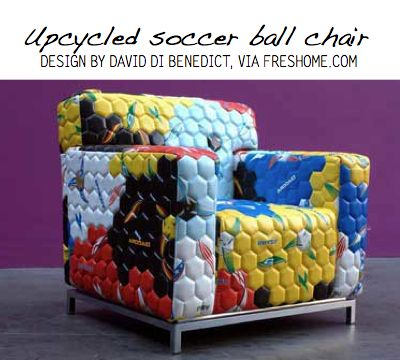 shining inspiration soccer furniture. Pinner says  How about reupholstering a chair with recycled soccer balls A ball Sports Pinterest Ball Soccer and