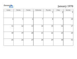 In The 1970s Podcast January 3rd 1970 Free Printable Calendar