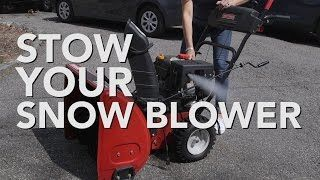 Winter Is Over But The Extra Gas Left In Your Snow Blower Tank Can Turn To Gunk Clog The Lines And Corrode The Inside Of T Snow Blower Blowers Cleaning Hacks