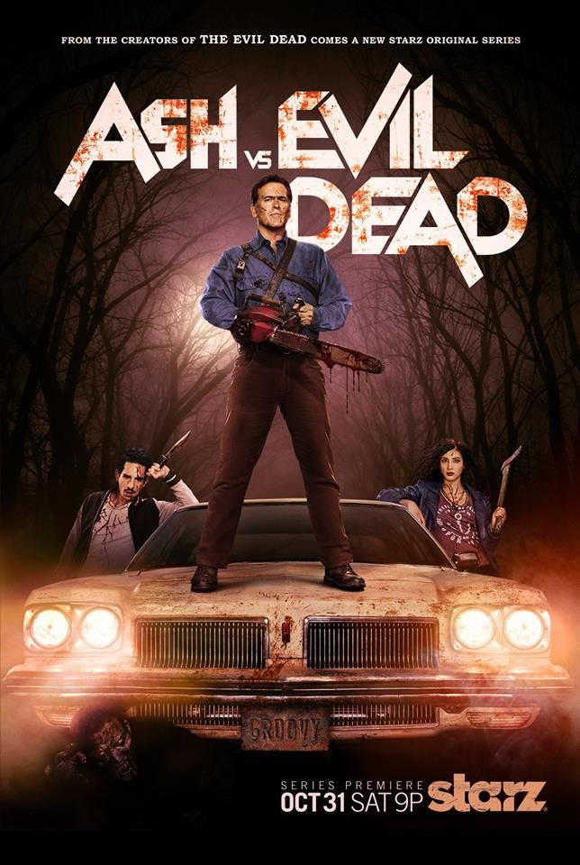 This Official Artwork For Ash Vs Evil Dead Is Groovy Horrormovies Ca Evil Dead Series Evil Dead Movies Ash Evil Dead