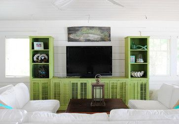 Anna Maria Beach House - beach style - living room - tampa - The Blue Moon Trading Company