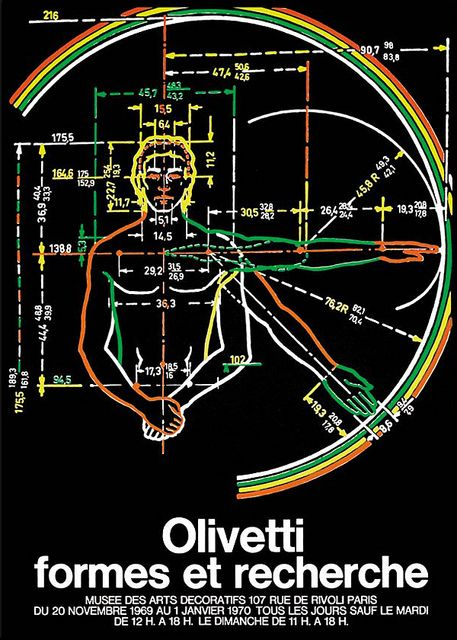 Olivetti Concept and Form Exhibition Poster designed by Giovanni Pintori - 1969