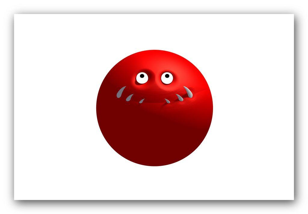red cute