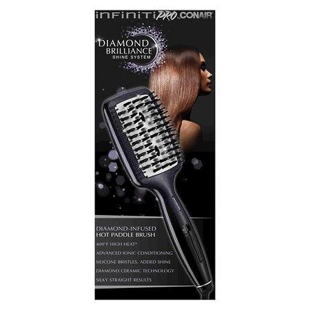Conair Infiniti Pro Diamond Brilliance Ceramic Hot Paddle Brush Paddle Brush Straightening Brush Quality Hair Dryer