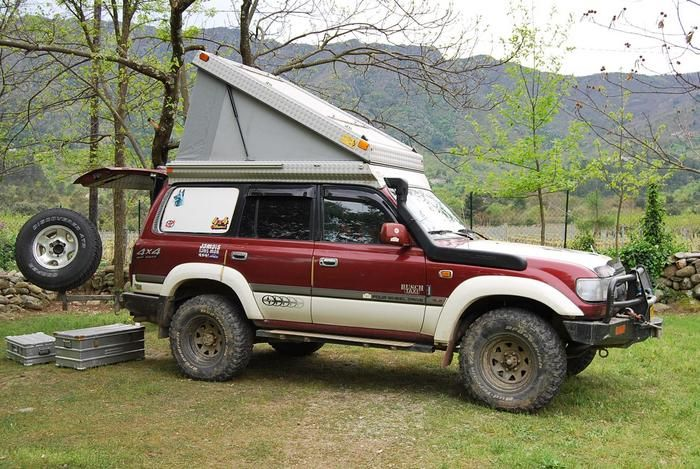 Fj80 With Pop Up Camper And Single Piece Tail Gate Land Cruiser Land Cruiser 80 Nissan Patrol