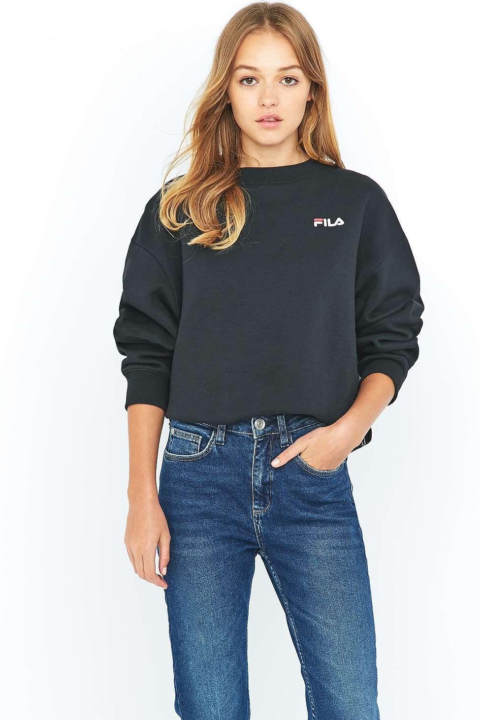 6150c00b Fila Cassio Black Crew Neck Sweatshirt | Stuff to Buy | Sweatshirt ...