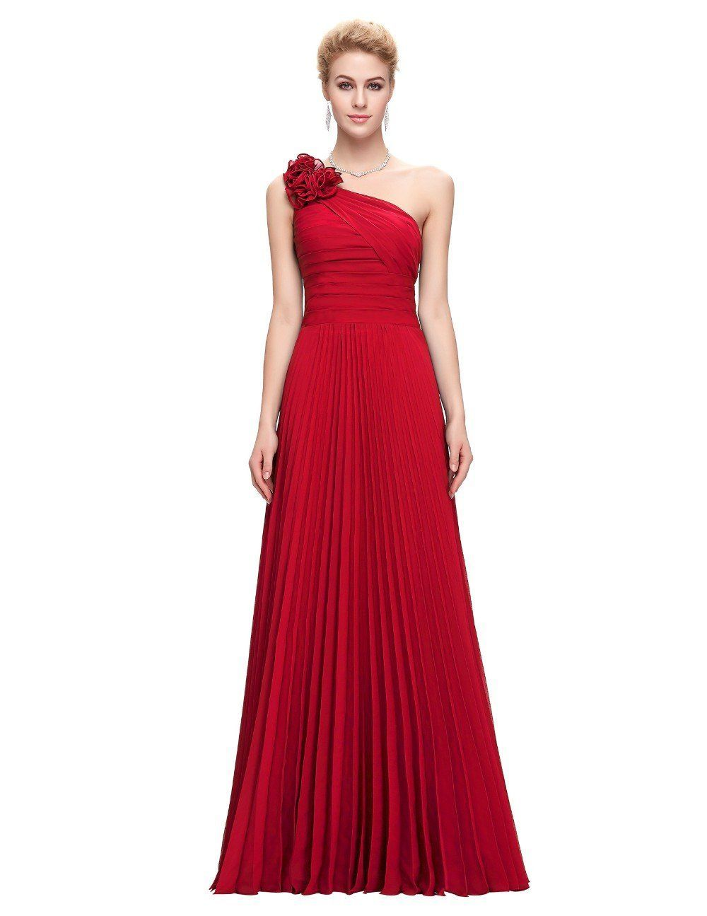 Chiffon long evening prom gown dress plus size selling products