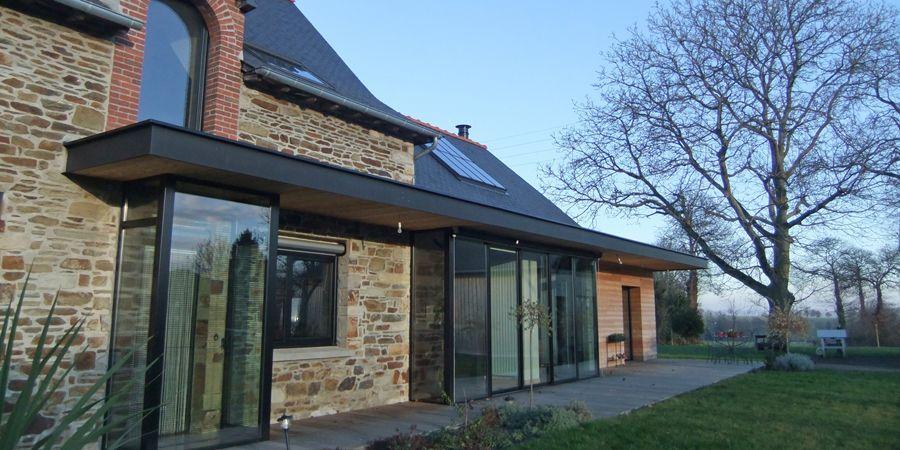 Extension Maison En Pierre Mariage Moderne Et Ancien Saint Jean Sur Vilaine