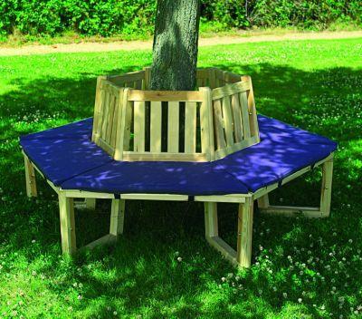 Promadino Baumbank 360° mit Sitzauflagen blau Jetzt bestellen unter