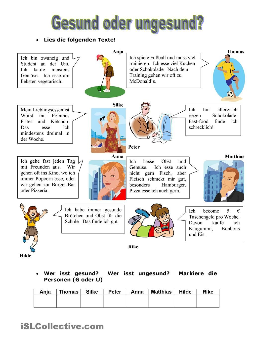 German Worksheets and Grammar Exercises - Learn a Language ...