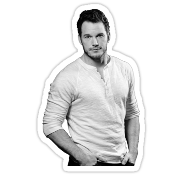 Chris Pratt Sticker By Izmartin Chris Pratt Long Sleeve Tshirt Men Stickers