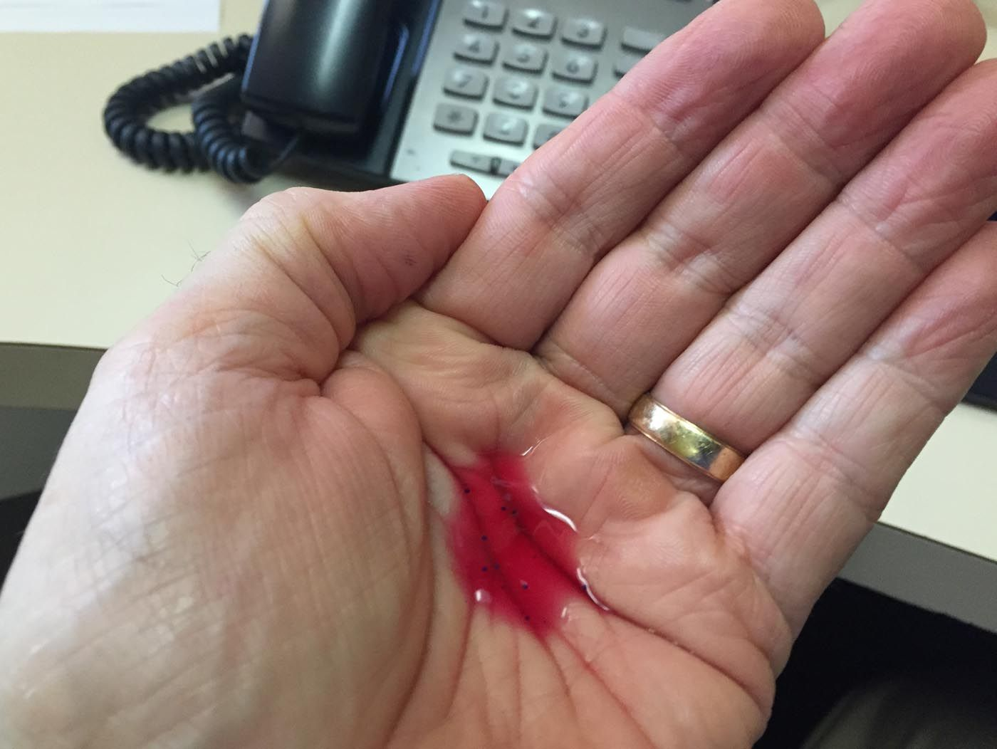 No Office Wound This Is Vampire Blood Hand Sanitizer Hand