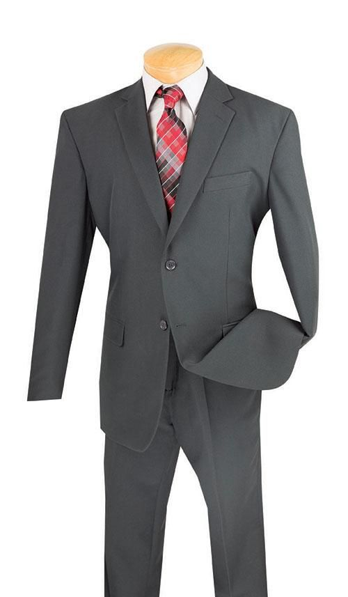 Parma Collection - Charcoal Men's Suit Classic Fit Two Buttons Design