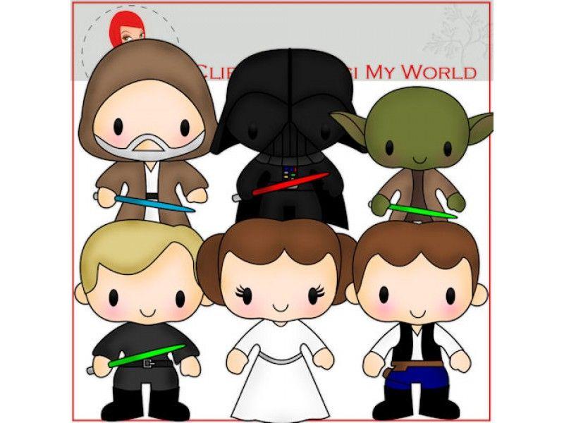 Bien connu Star Wars Clip Art by Digi My World   Star Wars Birthday  VK25
