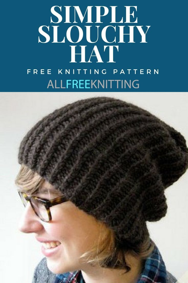 Simple Slouchy Hat | Slouchy hat, Knitting patterns and Patterns